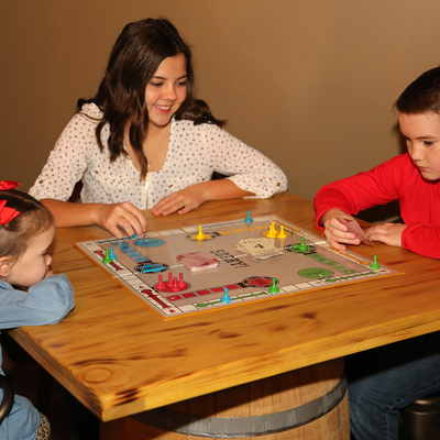 Relax with some fun games in our 1930's clubhouse.
