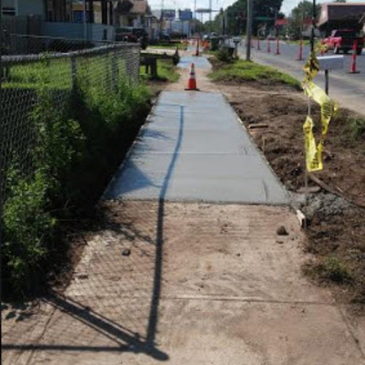 New Sidewalks on 9th Street