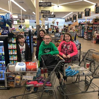 Shopping for the Salina Emergency Aid/Food Bank