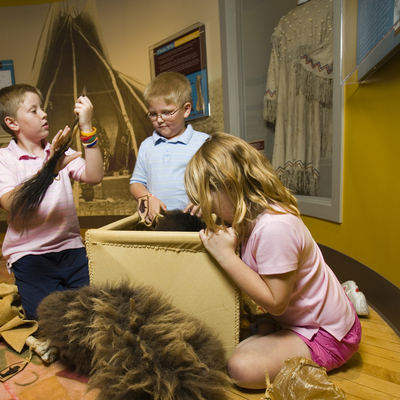 Hands-on experiences are incorporated throughout the Museum.