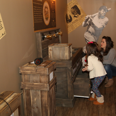 Activities promote intergenerational play in The Curiosity Shop.